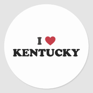I Love Kentucky Classic Round Sticker
