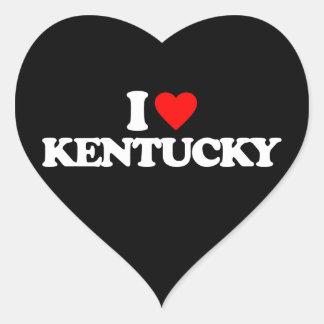 I LOVE KENTUCKY HEART STICKER