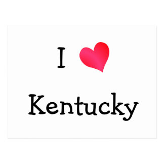 I Love Kentucky Postcard