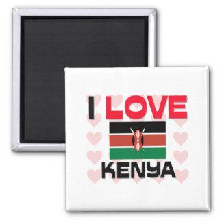 I Love Kenya Square Magnet