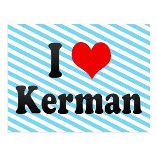 I Love Kerman, Iran Postcard