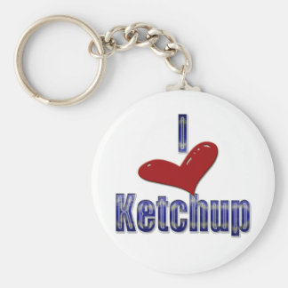 I love Ketchup Funny LOL Design Key Ring