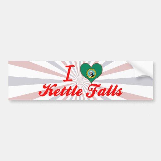 I Love Kettle Falls, Washington Bumper Stickers