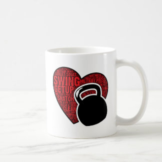 I LOVE KETTLEBELL DESIGN COFFEE MUG