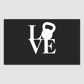 I Love Kettlebells Rectangular Sticker