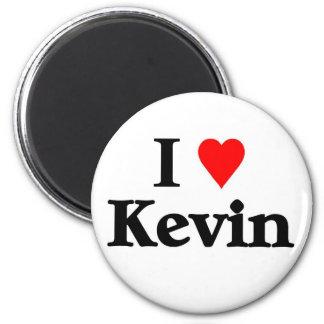 I love kevin 6 cm round magnet