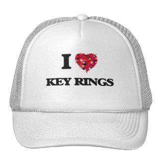 I Love Key Rings Cap