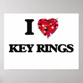 I Love Key Rings Poster