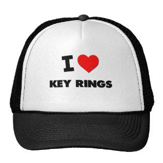 I Love Key Rings Trucker Hats