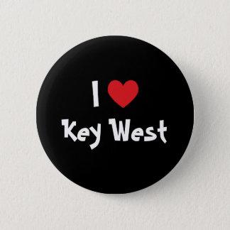 I Love Key West Florida 6 Cm Round Badge