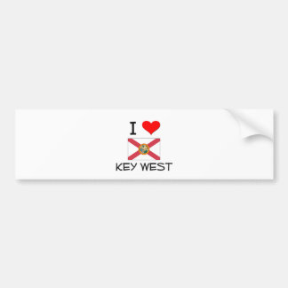 I Love KEY WEST Florida Bumper Sticker
