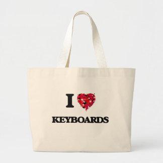 I Love Keyboards Jumbo Tote Bag