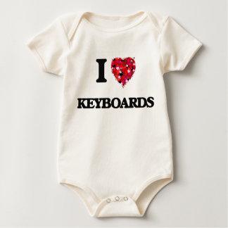 I Love Keyboards Baby Bodysuit