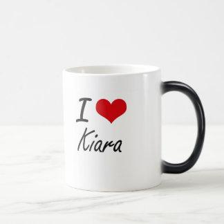 I Love Kiara artistic design Morphing Mug