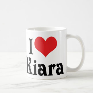 I Love Kiara Basic White Mug