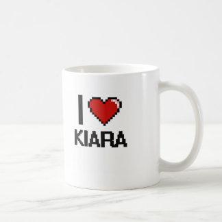 I Love Kiara Digital Retro Design Basic White Mug