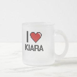 I Love Kiara Digital Retro Design Frosted Glass Mug
