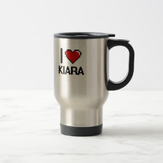 I Love Kiara Digital Retro Design Stainless Steel Travel Mug
