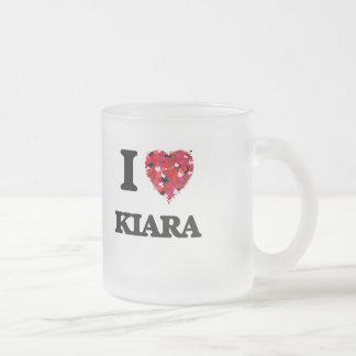 I Love Kiara Frosted Glass Mug