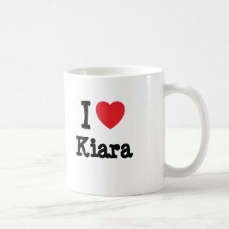 I love Kiara heart T-Shirt Basic White Mug