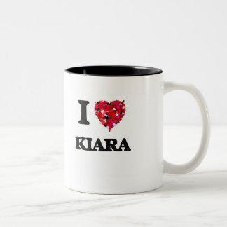 I Love Kiara Two-Tone Mug