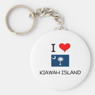 I Love Kiawah Island South Carolina Key Ring