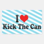 I love Kick The Can Rectangular Sticker