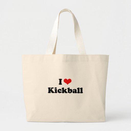 I LOVE KICKBALL JUMBO TOTE BAG