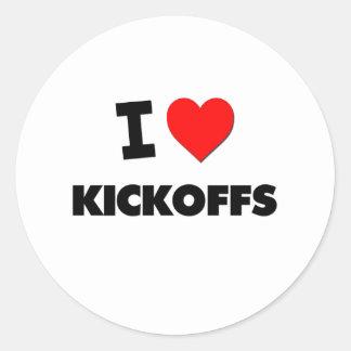 I Love Kickoffs Sticker