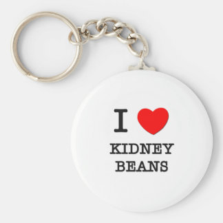 I Love Kidney Beans Key Ring