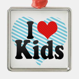 I Love Kids Christmas Ornaments