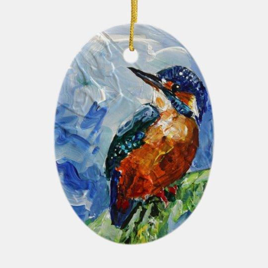 I love Kigfishers Christmas Ornament