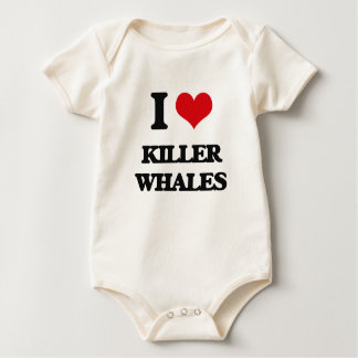 I love Killer Whales Baby Bodysuit