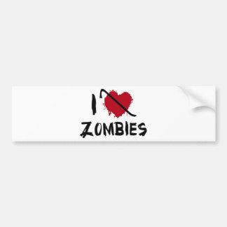I love Killing Zombies Bumper Sticker
