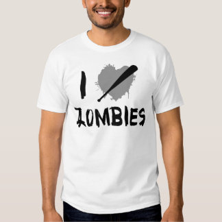 I Love Killing Zombies T-shirts