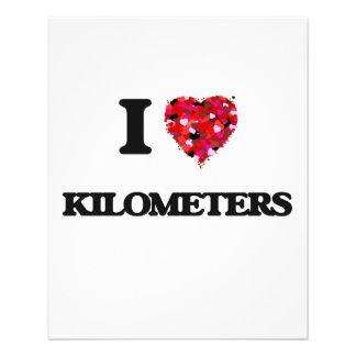 I Love Kilometers 11.5 Cm X 14 Cm Flyer