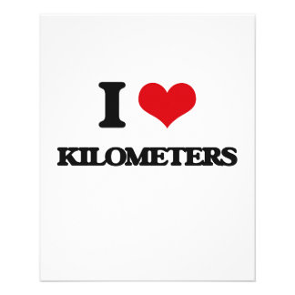 I Love Kilometers Flyer Design