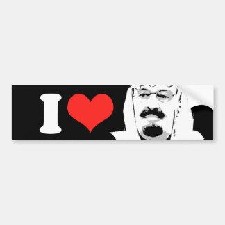 I Love King Abdullah Bumper Stickers