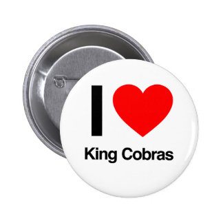 i love king cobras 6 cm round badge