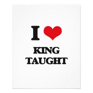 I love King Taught 11.5 Cm X 14 Cm Flyer