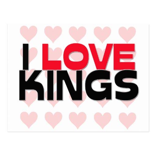 I LOVE KINGS POSTCARD