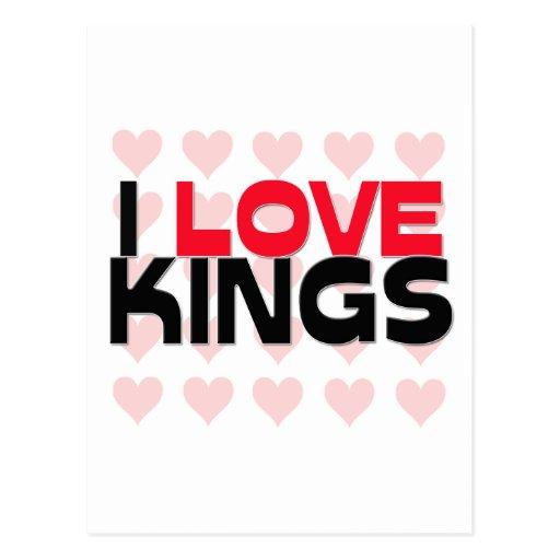 I LOVE KINGS POST CARD