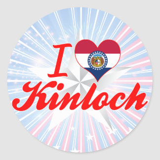 I Love Kinloch, Missouri Round Stickers
