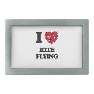 I love Kite Flying Belt Buckles