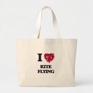 I love Kite Flying Jumbo Tote Bag