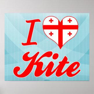 I Love Kite, Georgia Posters