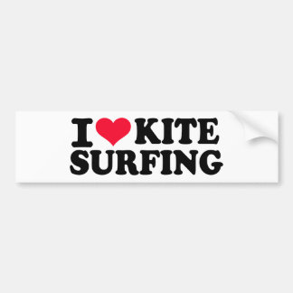 I love Kitesurfing Bumper Sticker