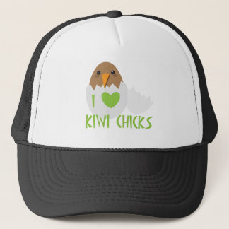 I love KIWI CHICKS with a kiwi New Zealand bird Trucker Hat