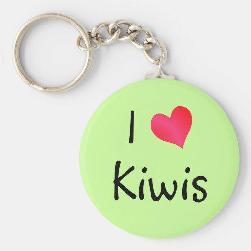 I Love Kiwis Keychain