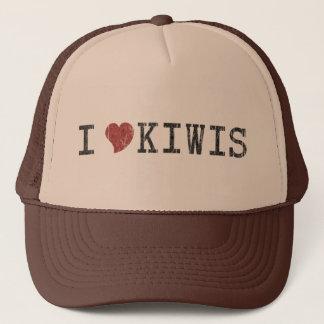I Love Kiwis Vintage Retro Hat